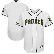 MLB Men's San Diego Padres Baseball White 2017 Memorial Day Authentic Collection Flex Base Team Jersey(China)