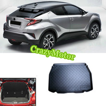 For Toyota C-HR 2016 2017 Black Rubber Car Trunk Mat 1pcs car styling