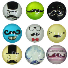 20mm 100pcs Design  Beard Round Dome Cabochon Flat Back Embellishments For Fashion Jewelry Glass Accessories