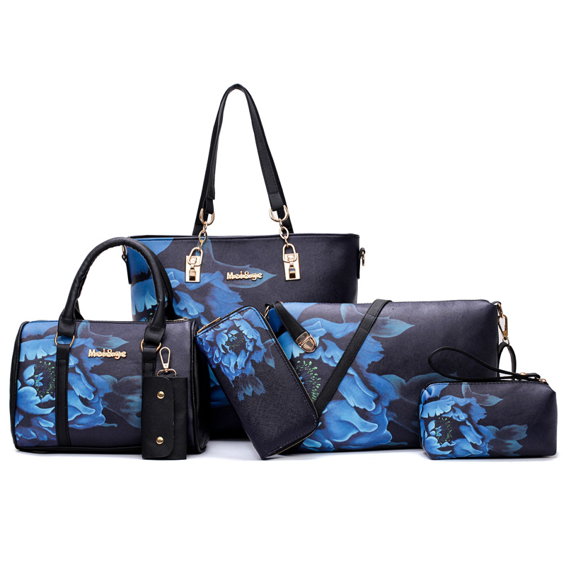 MIWIND 2017 New Women Handbag PU Leather Female Bags Fashion Shoulder Bag High Quality 6-Piece Set Designer Brand Bolsa Feminina<br>