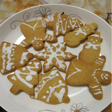 6PCs/ Set 3D Stainless Steel Christmas Scenario Cookie Cake Cutters Metal Mold Fondant Sugar Craft Soap Cutter Baking Tool