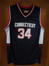 Aembotionen Ray Allen #34 Connecticut Uconn Retro Throwback Stitched Basketball Jersey Sewn Camisa Embroidery Logos