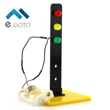 Traffic Lights DIY Kits Technology Production Invention Signals DIY Science Model Toys Education Kit 75x75x165mm(China)