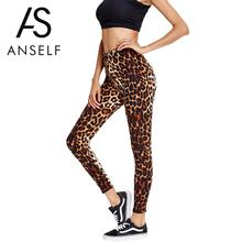 2017 Women Push Up Leggings Ladies Leopard Printed Leggings High Waist Stretchy Leggins Harajuku Skinny Pants Brown