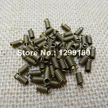 200pcs/lot For 3mm Leather Cord End Cap Stopper Metal Jewelry Fasteners Clasps Buckle,DIY Jewelry Parts Accessories 4x7mm K01850