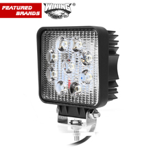 4 Inch 27W LED Work Light Square for Indicator Motorcycle Driving Light Offroad Boat Car Tractor Truck 4x4 SUV ATV Thick Housing