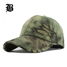 [FLB] Men's Snapback Camouflage Tactical Hat Army Tactical Baseball Cap Head Camouflage Caps Sun Hat Golf Hats for Men and Women