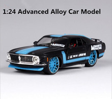 High simulation super car, 1: 24 alloy 1970 Ford Mustang sports car, metal casting,collection metal model toys, free shipping(China)