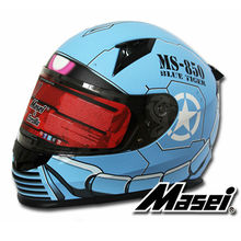 MASEI 850 Blue zaku full face helmet motorcycle helmet mens womens helmet ABS high quality racing DOT ECE approved helmet
