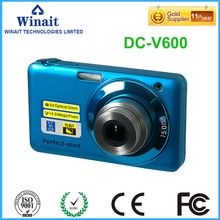 "Freeshipping 15Mp 5X Optical Zoom plus 4x Digital Zoom 2.7""TFT Color LCD Screen Digital Camera HD DC-V600 Cameras Photo Digtals"