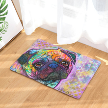 2017 Welcome Floor Mats Animal Oil Dog Printed Bathroom Kitchen Carpets Doormats Cat Floor Mat for Living Room Anti-Slip Tapete