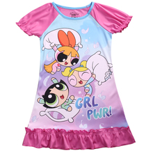 New Style Fashion The Powerpuff Girls Cartoon Dress  Costume Party Casual Fashion Girls' Dresses