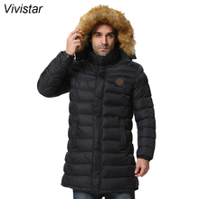 Detachable Fur Hood Parkas 2015 Winter Coats New Snow Warm Fashion Brand Plus Size Thick X-Long Outwear Men Down Jackets F1521