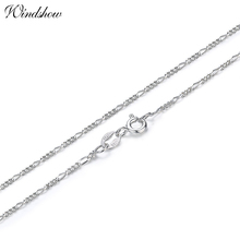 35-70cm Slim 925 Sterling Silver Figaro Chain Necklace Women Girl Children Boy Kids Italy Jewelry kolye collares sieraden Colier(China)