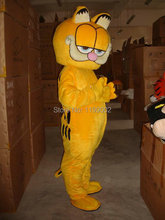HOT Custom Products Plush Cartoon Character Costume mascot Garfield super lovely free shipping(China)