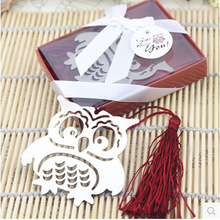 Marcapaginas Owl Book Markers Birds With Tassels Metal Bookmark Stationery For Kids Gift 5050