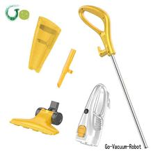 New 2in1 Portable Handle Mini Home Vacuum Cleaner Dust Collector Aspirator  long cord length White&Yellow Color M-10