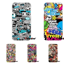 JDM Car Graffiti Sticker Bomb Soft Silicone Phone Case For Sony Xperia Z Z1 Z2 Z3 Z5 compact M2 M4 M5 E3 T3 XA Aqua