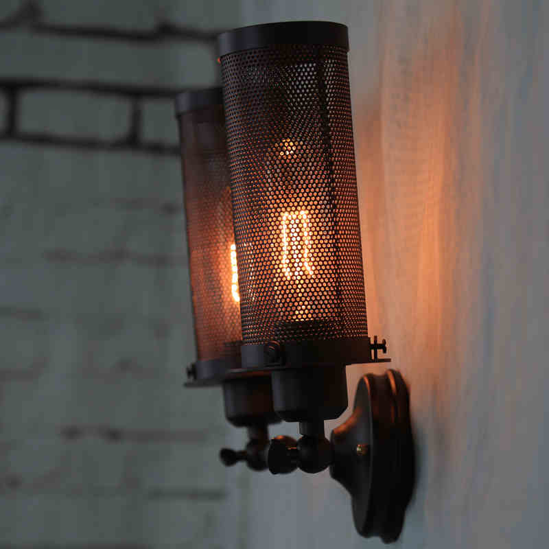 Louis Poulsen scone light E27 plated Loft american retro vintage iron wall lamp 110V-220V 40W Antique lamp industrial<br><br>Aliexpress