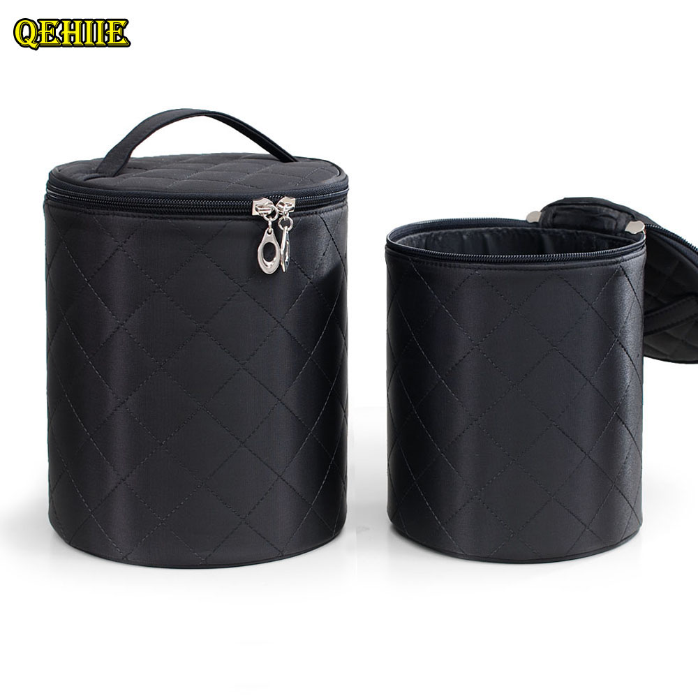 high quality New Cosmetic Bag Size Two sets of round makeup ladies lady cosmetologist organizer travel toilet bag Makeup Bag<br>