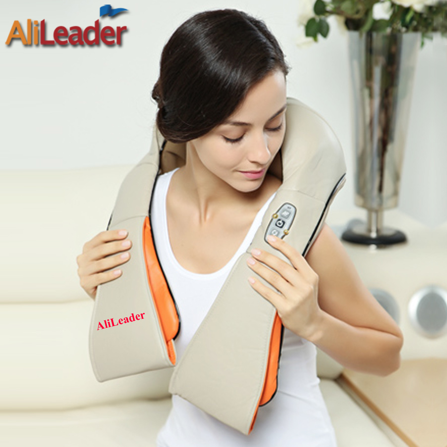 Best Massage Machine For Back Pain Heating Massage Devices Electric Massage Therapy Muscle Stimulator Neck Shoulder Massageador(China (Mainland))