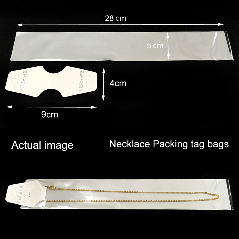 necklace bracelet chains stainless steel paper tags packing tag bags display white bags diy fittings paper tags ,opp bags(China (Mainland))