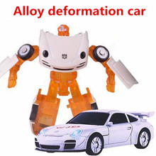 Alloy deformation car,deformation robot,high simulation sports car models,metal diecast,toy vehicles,DIY toy,free shipping