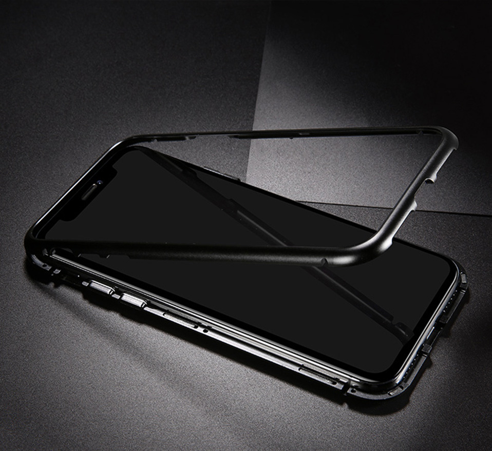magnetic adsorption metal phone case for iphone 6 6S plus 7 8 plus x xs max xr(5)