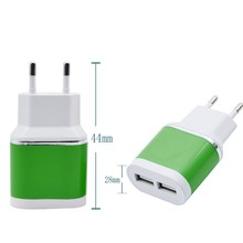 2USB Mobile Phone Charger 2.1A Adapter IC Smart Phone Travel Manufacturers 6 Color