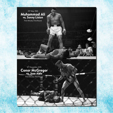 CONOR McGREGOR Muhammad Ali UFC MMA Motivational Art Silk Canvas Poster 13x20 32x48 inches Sport Pictures For Room Decor(more)-1(China)