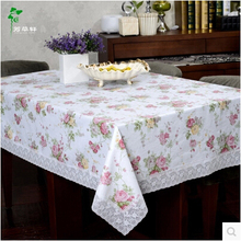 Plastic Table cloth Waterproof  Disposable Coffee Table cloth Pastoral Rectangle Table Continental Arming Oil Home Tablecloth