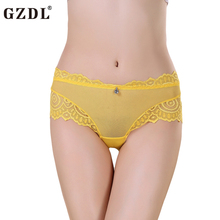 Buy GZDL Women Lady Lace Modal Floral Sheer Sexy Panties Seamless Underwear french Knickers Briefs Thong Lingerie Calcinha NY207