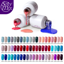 Sexymix 119 Nude Color Long Lasting UV Nail Gel Polish High Quality Soak Off Nail Gel Varnishes Nail Art Salon Enamel Liquid(China)