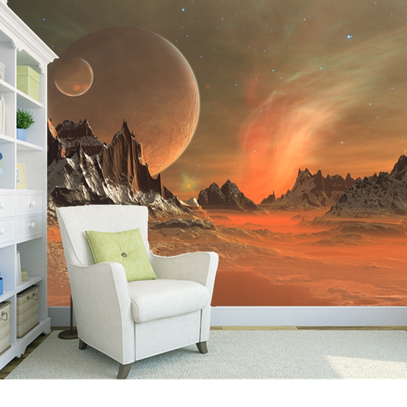 Custom natural landscape wallpaper, star planet, 3D photo mural for the living room bedroom background wall PVC wallpaper<br><br>Aliexpress