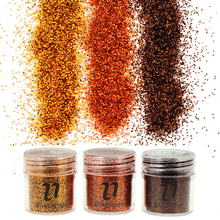 3 Bottle/Set 3 Designs Brown Sequin Dust Gem Nail Glitter Decorations Acrylic UV Glitter Powder 3D Nail Art BG064-066(China)