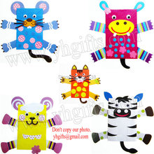 10PCS/Lot.DIY Paper animal hand puppets craft kit,Animal crafts.Early educational toys,Creative toys,Family fun,5 design.