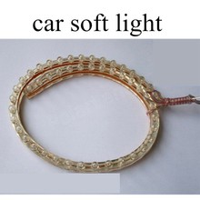one pair high quality 48cm 48LED 12V 3W LED Car Flexible Durable Light Lamp White Strip factory price sale