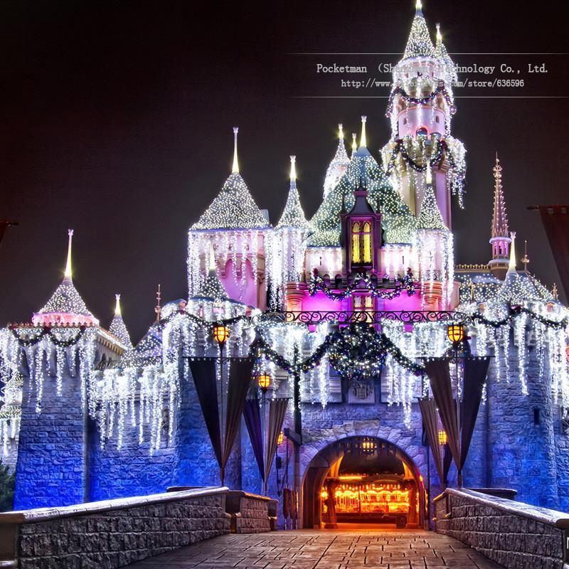 3m*3m 300LEDs lights flashing lane LED String curtain light Christmas home garden festival lights 24V EU US UK AU<br>