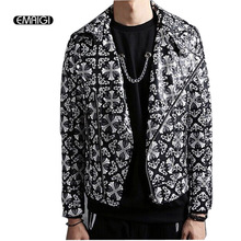 Buy Fashion Men's Slim PU Leather Jacket Turndown Collar Jacket coat Motorcycle Jacket Male Punk Rock Design Stage Costume for $45.81 in AliExpress store