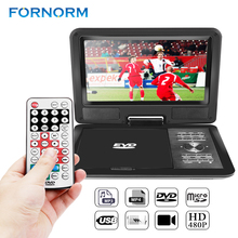 "FORNORM 9"" 720P LCD HD DVD Player 270 Degree Swivel Screen Portable TV Game Radio supported Player with EU/US/UK Plug optional(China)"