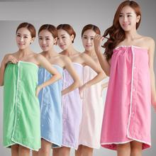 Sexy Women Bath Towel Soft Wearable Beach Towel Super Absorbent Bath Gown 140x75cm Many Colors free shipping