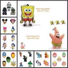 1000pcs Star Wars Mickey Super Hero SpongeBob Princess Cartoon Figure Pendants Charms for Key Chain Necklace Accessories Pendant(China)