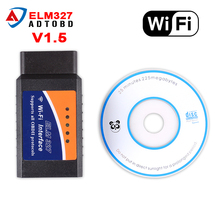 Latest Version ELM327 V1.5 WIFI or bluetooth OBD2/OBDII Auto Diagnostic Scanner Tool ELM 327 WiFi Obd2 Elm327 Wifi free ship