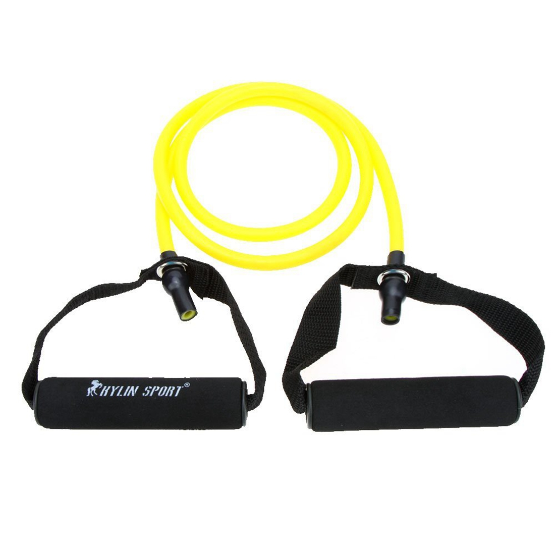 Natural Rubber Latex Fitness Resistance Tube Resistance Rope Elastic Exercise Band Yoga Pilates Workout (Yellow, 20lb)
