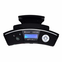 Steering Wheel Bluetooth car kit Handsfree speaker LCD play Headset Car MP3 Player FM Transmitter Supports TF Card