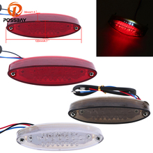 POSSBAY Universal Motorcycle Taillight Rear Light Red For Harley Davidsion Kawasaki z750 Suzuki Cafe Racer Clignotant Moto(China)
