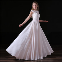 Buy Vestido De Noiva 2017 Beach Wedding Dress line Lace Sexy Backless Floor Length Chiffon Bridal Gown Bride Dresses for $82.17 in AliExpress store