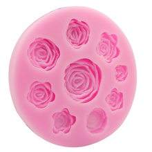 Mini Rose Flower Food Grade Silicone Mold Chocolate Cake Decorating Mould For Polymer Clay Crafts