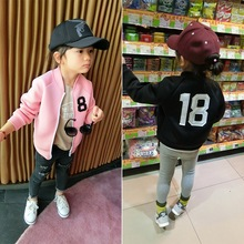 Special Price Children's Cloth Coat Girl's Cloth Jacket Spring Autumn Number Printing Jacket Girl 2-7Y(China)