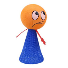2017 New product Funny Expression Jumping Elves 100pcs/lot Jump Man Stress Flying toy Kid Boy Girl birthday party Gift